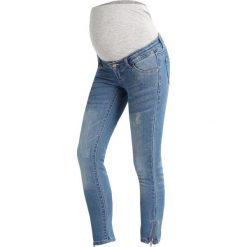 Jeansy damskie: MAMALICIOUS MLRIGA 7/8 ZIP Jeans Skinny Fit light blue denim