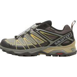 Salomon X ULTRA 3 GTX Obuwie hikingowe castor gray/beluga/green sulphur. Szare buty trekkingowe męskie Salomon, z materiału, outdoorowe. Za 659,00 zł.