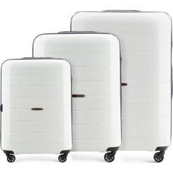 Zestaw walizek 56-3T-72S-88. Białe walizki marki Wittchen, z gumy, duże. Za 629,61 zł.
