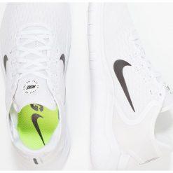 Nike Performance FREE RN 2018 Obuwie do biegania neutralne white/black. Białe buty do biegania męskie Nike Performance, z materiału. Za 769,00 zł.