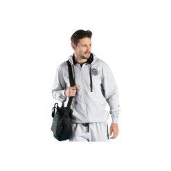 Bluza męska z kieszeniami, ze ściągaczami, z kapturem, rozpinana. Szare bluzy męskie rozpinane marki TXM, z dresówki. Za 34,99 zł.