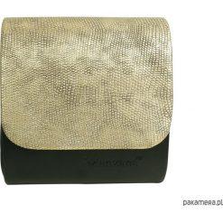 Kopertówki damskie: Mini kopertówka koperta MANZANA złota