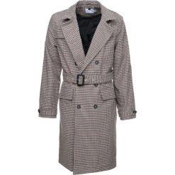 Płaszcze przejściowe męskie: Topman DOGTOOTH CHCK  Płaszcz wełniany /Płaszcz klasyczny light brown