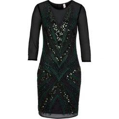 Sukienki hiszpanki: Sukienka na party bonprix zielono-czarny