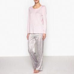 Bielizna damska: Piżama z dwóch rodzajów materiału, z nadrukiem