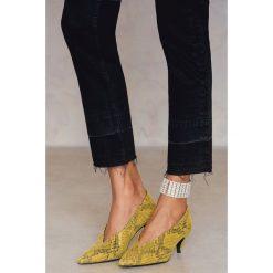 Bransoletki damskie na nogę: NA-KD Trend Szeroka bransoletka na kostkę - Silver