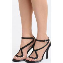 Czarne Sandały City Ligts. Czarne sandały damskie marki Born2be, z materiału, na wysokim obcasie, na obcasie. Za 89,99 zł.