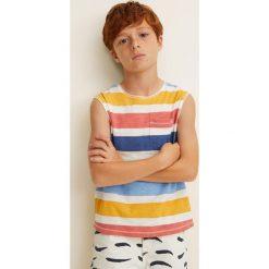 Odzież dziecięca: Mango Kids – T-shirt dziecięcy Rayas 104-164 cm