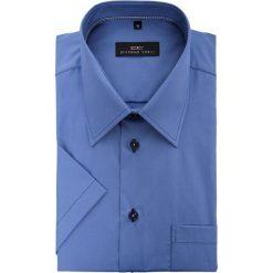 Koszula FABIO 15-01-21. Niebieskie koszule męskie na spinki Giacomo Conti, na lato, m, z bawełny, z krótkim rękawem. Za 199,00 zł.