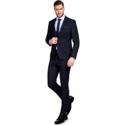 Garnitur w kratę  GAGS000045. Czarne garnitury Giacomo Conti, z elastanu. Za 699,00 zł.