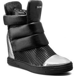 Sneakersy CARINII - B3493M Ven. Lust. Sreb./Savage 04/Srebro. Czarne botki damskie na obcasie Carinii, ze skóry. W wyprzedaży za 289,00 zł.