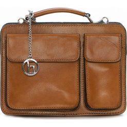 Torebki klasyczne damskie: Skórzana torebka w kolorze jasnobrązowym – 25 x 20 x 10 cm