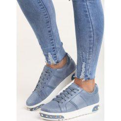 Niebieskie Buty Sportowe Capricorn. Niebieskie buty sportowe damskie marki Born2be, z materiału. Za 79,99 zł.