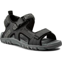 Sandały GEOX - U S.Strada A U8224A 00050 C9002  Dk Grey. Szare sandały męskie skórzane Geox. W wyprzedaży za 239,00 zł.