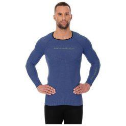 Koszulki sportowe męskie: Brubeck Koszulka męska 3D Run PRO z długim rękawem niebieska r. S (LS13000)