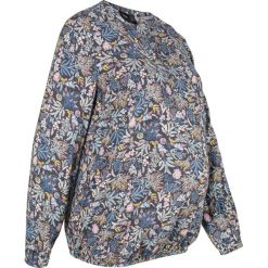 Bluzka ciążowa w kwiaty bonprix szary w kwiaty. Szare bluzki ciążowe marki bonprix, w kwiaty, z wiskozy, moda ciążowa. Za 89,99 zł.