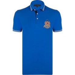 """Koszulki polo: Koszulka polo """"Grain"""" w kolorze niebieskim"""
