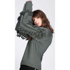 Bluzy damskie: Ciemnozielona Bluza Love Me