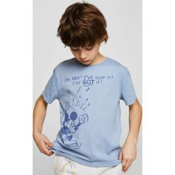 Mango Kids - T-shirt dziecięcy Got 110-164 cm. Szare t-shirty chłopięce z nadrukiem Mango Kids, z bawełny, z okrągłym kołnierzem. W wyprzedaży za 29,90 zł.