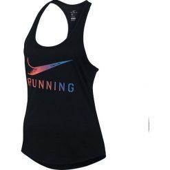 Nike Koszulka damska Dry Tank DBL Swoosh  czarna r. L  (831917 010). Czarne topy sportowe damskie Nike, l. Za 94,17 zł.