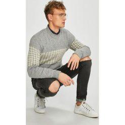 Selected - Sweter. Szare swetry klasyczne męskie marki Selected, l, z materiału. W wyprzedaży za 179,90 zł.
