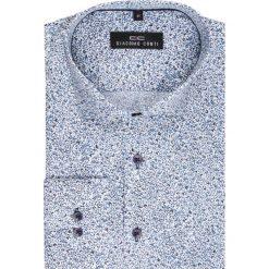 Koszula SIMONE KDWR000123. Szare koszule męskie na spinki Giacomo Conti, m, z tkaniny, z klasycznym kołnierzykiem, z długim rękawem. Za 149,00 zł.