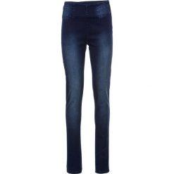 Dżinsy Power Stretch SKINNY bonprix ciemnoniebieski. Niebieskie jeansy damskie skinny bonprix, z jeansu. Za 109,99 zł.