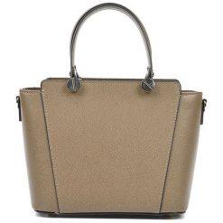 Torebki i plecaki damskie: Skórzana torebka w kolorze fango – (S)22,5 x (W)26 x (G)13 cm