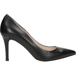 Czółenka SAVONA. Czarne buty ślubne damskie marki Gino Rossi, ze skóry, na wysokim obcasie, na szpilce. Za 149,90 zł.