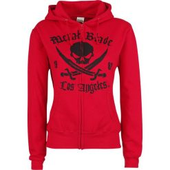 Metal Blade Pirate Logo Bluza z kapturem rozpinana damska czerwony. Czerwone bluzy rozpinane damskie Metal Blade, l, z nadrukiem, z kapturem. Za 184,90 zł.