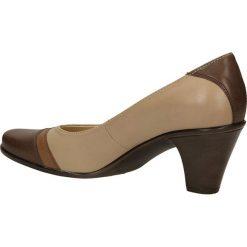 CZÓŁENKA GÓRAL 240. Brązowe buty ślubne damskie Casu, na koturnie. Za 149,99 zł.