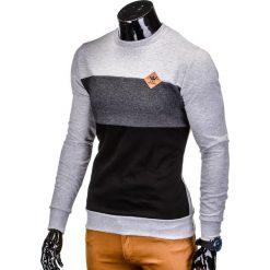 BLUZA MĘSKA BEZ KAPTURA B701 - SZARA. Szare bluzy męskie rozpinane marki Ombre Clothing, m, z bawełny, bez kaptura. Za 59,00 zł.