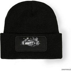 Czapka zimowa Gravity. Czarne czapki zimowe męskie Pakamera, na zimę, z nadrukiem. Za 69,00 zł.