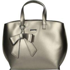 Torba - 4-93-M R GRIG. Czarne torebki klasyczne damskie marki Venezia, ze skóry. Za 289,00 zł.