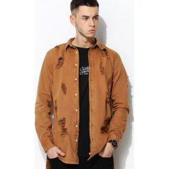 Camelowa Koszula Self Assured. Brązowe koszule męskie na spinki marki FORCLAZ, m, z materiału, z długim rękawem. Za 174,99 zł.
