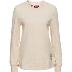 Bluza ze sznurowaniem bonprix beżowo-piaskowy. Brązowe bluzy damskie bonprix. Za 37,99 zł.