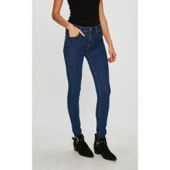 Answear - Jeansy. Niebieskie jeansy damskie rurki ANSWEAR, z bawełny, z podwyższonym stanem. W wyprzedaży za 79,90 zł.