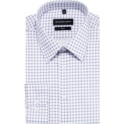 Koszula SIMONE slim KDBS000428. Białe koszule męskie na spinki Giacomo Conti, na lato, m, z bawełny, z klasycznym kołnierzykiem, z długim rękawem. Za 199,00 zł.