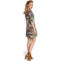 BELLA Sukienka moro - model 1. Szare sukienki dresowe Moe, na co dzień, moro. Za 149,00 zł.