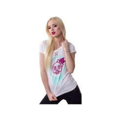 T-shirt Miss Demon. Białe t-shirty damskie marki Piekuo, m, z nadrukiem, ze skóry. Za 39,00 zł.