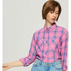 Koszula w kratę - Niebieski. Niebieskie koszule wiązane damskie Sinsay, l. Za 59,99 zł.