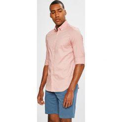 Lacoste - Koszula. Szare koszule męskie na spinki Lacoste, l, z bawełny, button down, z długim rękawem. W wyprzedaży za 369,90 zł.