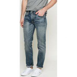 Levi's - Jeansy. Brązowe jeansy męskie slim marki Levi's®, z aplikacjami, z bawełny. W wyprzedaży za 199,90 zł.
