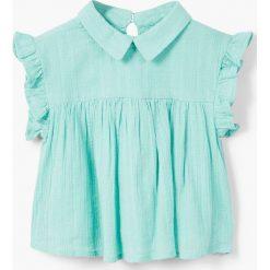 Mango Kids - Top dziecięcy Marea 80-104 cm. Szare bluzki dziewczęce bawełniane marki Mango Kids, bez rękawów. W wyprzedaży za 39,90 zł.