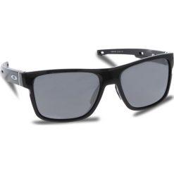 Okulary przeciwsłoneczne OAKLEY - Crossrange OO9361-0257 Polished Black/Black Iridium. Czarne okulary przeciwsłoneczne męskie aviatory Oakley, z tworzywa sztucznego. W wyprzedaży za 549,00 zł.