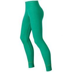 Bryczesy damskie: Odlo Spodnie Pants long Warm zielone r. M