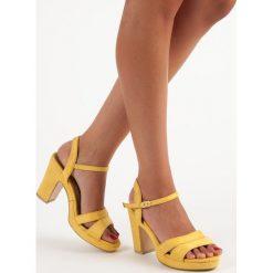 Sandały damskie: Modne sandały na obcasie MILAYA