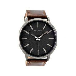 Zegarek OOZOO C9027 brown/black. Brązowe, analogowe zegarki męskie Moderntime, metalowe. Za 279,00 zł.