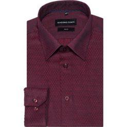 Koszula SIMONE KDAS000295. Czerwone koszule męskie na spinki Giacomo Conti, m, z materiału, z klasycznym kołnierzykiem. Za 169,00 zł.