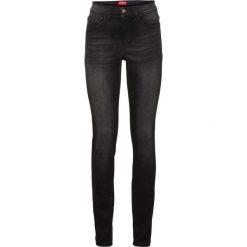 Dżinsy wyszczuplające sylwetkę SLIM bonprix czarny. Czarne jeansy damskie slim bonprix. Za 149,99 zł.